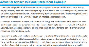 Job Personal Example