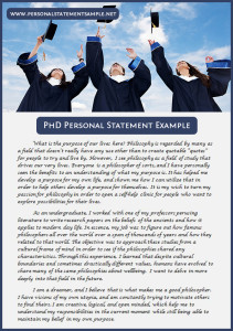 phd personal statement sample