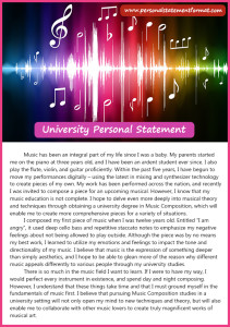 correct university personal statement format