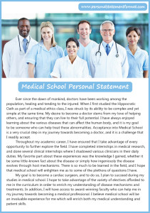 good medical school personal statement format