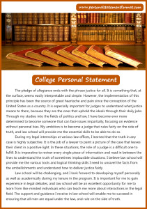 law school personal statement format to use